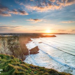 Beautiful Sunset over Porth in Newquay