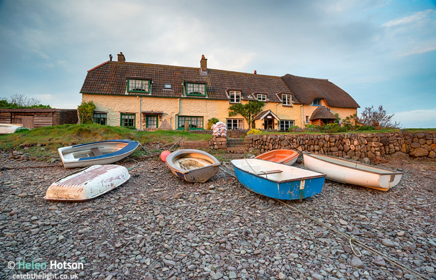 Cottages at Porlock Weir on the Somerset Coast