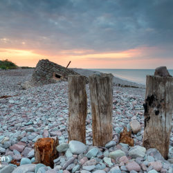 Beautiful Sunset over the Beach at Porlock Weir