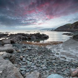 Dusk at Portwrinkle in Cornwall
