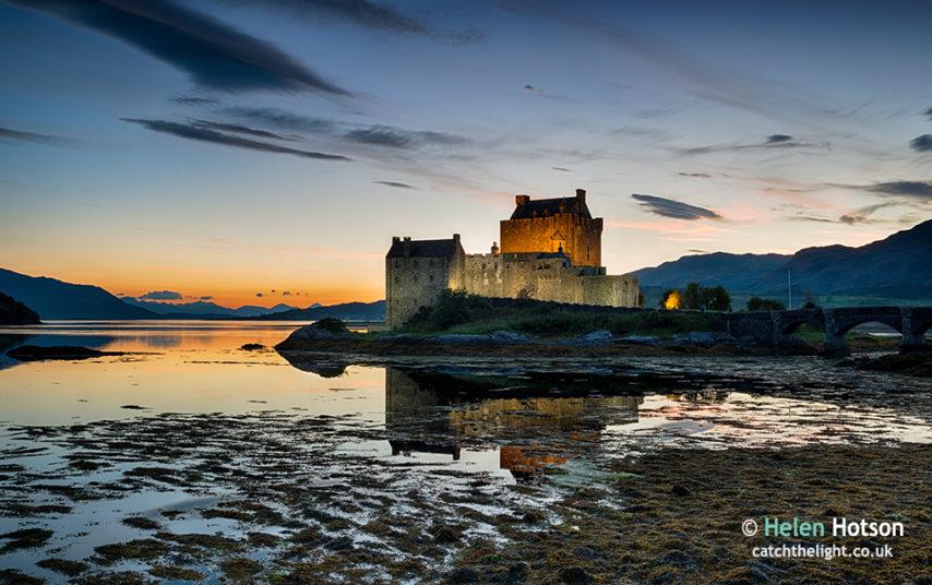 Sundown at Eilean Donan Castle
